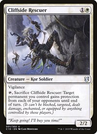 Cliffside Rescuer, Magic, Commander 2019