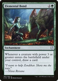 Elemental Bond, Magic: The Gathering, Commander 2019