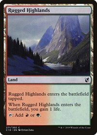 Rugged Highlands, Magic, Commander 2019