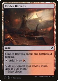 Cinder Barrens, Magic: The Gathering, Commander 2019