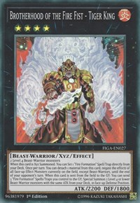 Brotherhood of the Fire Fist - Tiger King, YuGiOh, Fists of the Gadgets