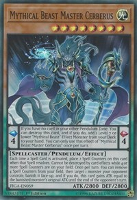 Mythical Beast Master Cerberus, YuGiOh, Fists of the Gadgets