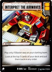 Interpret The Airwaves, Transformers TCG, Blaster VS Soundwave Box Set 35th Anniversary Edition