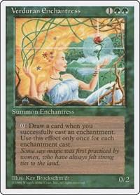 Verduran Enchantress, Magic: The Gathering, Fourth Edition