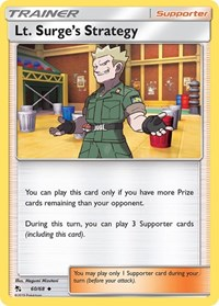 Lt. Surge's Strategy, Pokemon, Hidden Fates