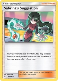 Sabrina's Suggestion, Pokemon, Hidden Fates