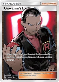Giovanni's Exile (Full Art), Pokemon, Hidden Fates