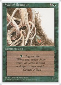 Wall of Brambles, Magic: The Gathering, Fourth Edition