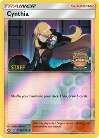 Cynthia - 119a/156 (Regional Championship Promo) [Staff], Pokemon, League & Championship Cards