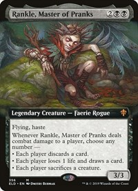 Rankle, Master of Pranks (Extended Art), Magic: The Gathering, Throne of Eldraine