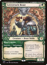 Lovestruck Beast (Showcase), Magic: The Gathering, Throne of Eldraine