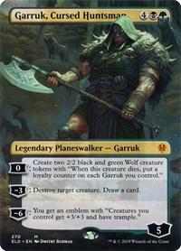 Garruk, Cursed Huntsman (Borderless), Magic: The Gathering, Throne of Eldraine