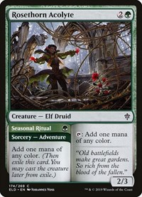 Rosethorn Acolyte, Magic: The Gathering, Throne of Eldraine