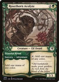 Rosethorn Acolyte (Showcase), Magic: The Gathering, Throne of Eldraine