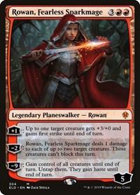 Rowan, Fearless Sparkmage, Magic, Throne of Eldraine