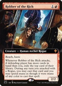 Robber of the Rich (Extended Art), Magic: The Gathering, Throne of Eldraine