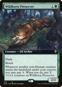 Wildborn Preserver (Extended Art), Magic: The Gathering, Throne of Eldraine