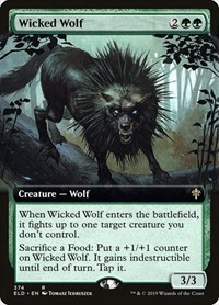 Wicked Wolf (Extended Art), Magic: The Gathering, Throne of Eldraine