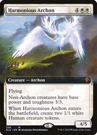 Harmonious Archon (Extended Art), Magic: The Gathering, Throne of Eldraine