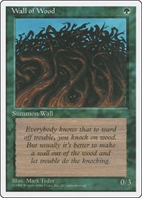 Wall of Wood, Magic: The Gathering, Fourth Edition