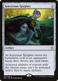 Sorcerous Spyglass, Magic: The Gathering, Throne of Eldraine