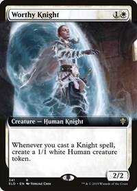Worthy Knight (Extended Art), Magic: The Gathering, Throne of Eldraine