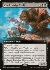 Clackbridge Troll (Extended Art), Magic, Throne of Eldraine