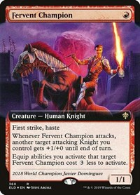 Fervent Champion (Extended Art), Magic: The Gathering, Throne of Eldraine