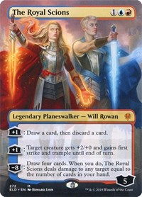 The Royal Scions (Borderless), Magic: The Gathering, Throne of Eldraine