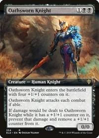 Oathsworn Knight (Extended Art), Magic: The Gathering, Throne of Eldraine