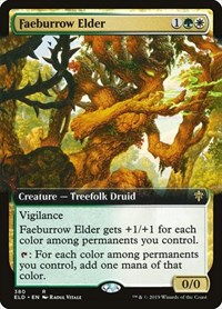 Faeburrow Elder (Extended Art), Magic: The Gathering, Throne of Eldraine