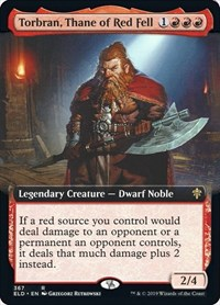 Torbran, Thane of Red Fell (Extended Art), Magic: The Gathering, Throne of Eldraine