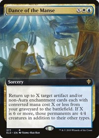 Dance of the Manse (Extended Art), Magic: The Gathering, Throne of Eldraine