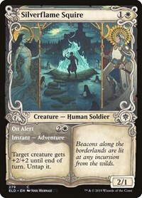 Silverflame Squire (Showcase), Magic: The Gathering, Throne of Eldraine