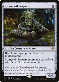 Stonecoil Serpent, Magic: The Gathering, Throne of Eldraine