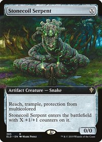 Stonecoil Serpent (Extended Art), Magic: The Gathering, Throne of Eldraine