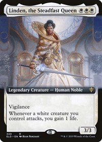 Linden, the Steadfast Queen (Extended Art), Magic: The Gathering, Throne of Eldraine