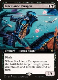 Blacklance Paragon (Extended Art), Magic: The Gathering, Throne of Eldraine