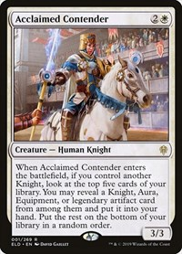 Acclaimed Contender, Magic: The Gathering, Throne of Eldraine