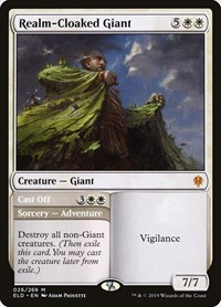 Realm-Cloaked Giant, Magic: The Gathering, Throne of Eldraine