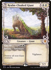 Realm-Cloaked Giant (Showcase), Magic: The Gathering, Throne of Eldraine