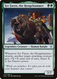 Syr Faren, the Hengehammer, Magic: The Gathering, Throne of Eldraine