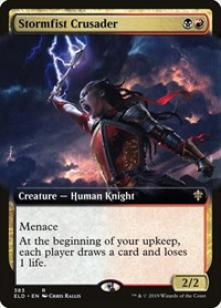 Stormfist Crusader (Extended Art), Magic: The Gathering, Throne of Eldraine