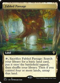 Fabled Passage (Extended Art), Magic: The Gathering, Throne of Eldraine