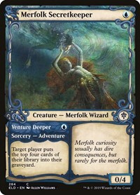 Merfolk Secretkeeper (Showcase), Magic: The Gathering, Throne of Eldraine