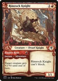 Rimrock Knight (Showcase), Magic, Throne of Eldraine