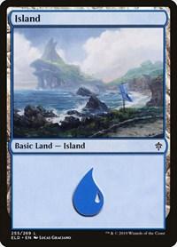 Island (255), Magic: The Gathering, Throne of Eldraine