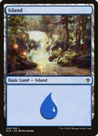Island (256), Magic: The Gathering, Throne of Eldraine