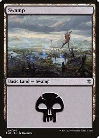 Swamp (259), Magic: The Gathering, Throne of Eldraine