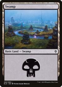 Swamp (260), Magic: The Gathering, Throne of Eldraine